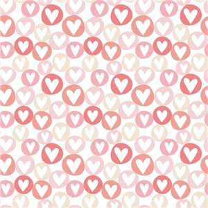 large circle hearts pattern