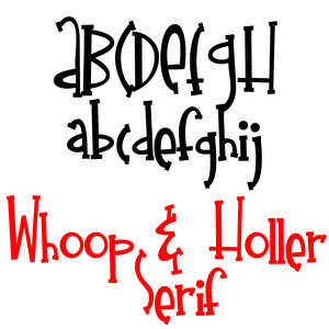 zp whoop and holler serif