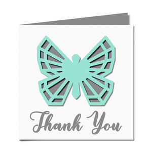 butterfly cutout 'thank you' card
