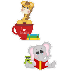 school giraffe and elephant stickers
