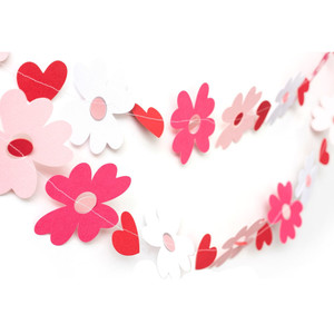 heart flower garland