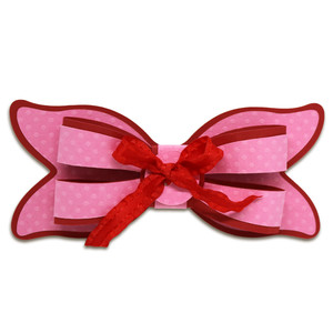 puckered layered bow