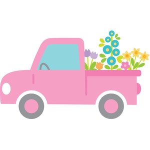 pink truck - simply spring