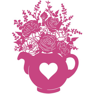romantic floral tea pot