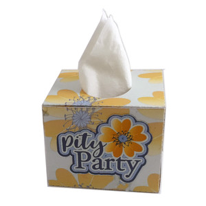 pity party tissue box