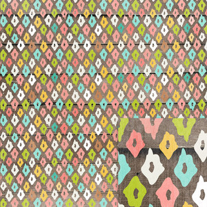 ikat wood background paper