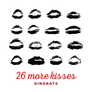 26 more kisses font