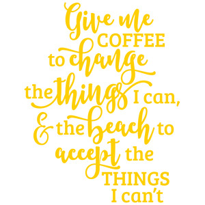 give me coffee to change the things
