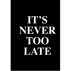never too late - planner