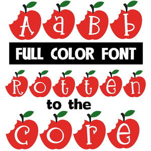 rotten to the core color font