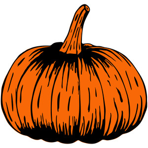woodcut pumpkin