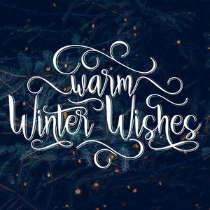 warm winter wishes font