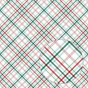 christmas plaid seamless pattern