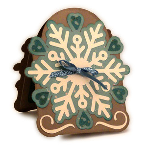 snowflake hearts pop up card