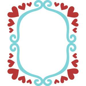 love hearts square frame