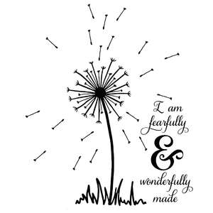 fearfully & wonderfully made dandelion quote