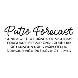 patio forecast