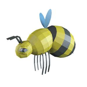 lowpoly big bee