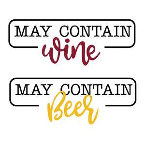 may contain wine or beer phrase