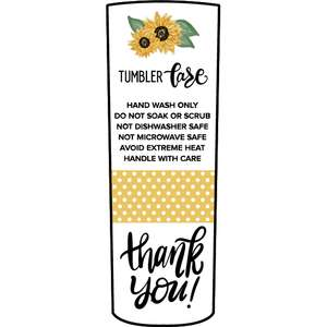 skinny tumbler sunflower care card