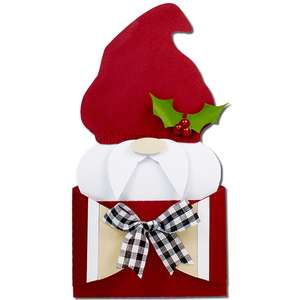 winter gnome hug gift card holder