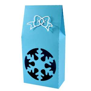 christmas snowflake upright gift box