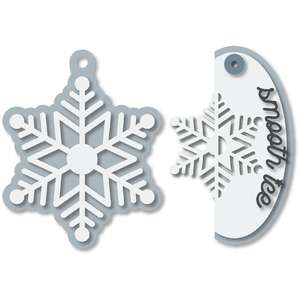snowflake tags pair