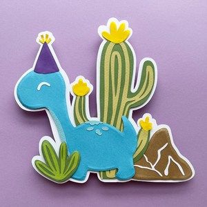 brontosaur party cake topper