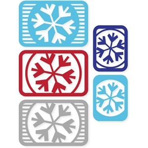 snowflake & stripes cards