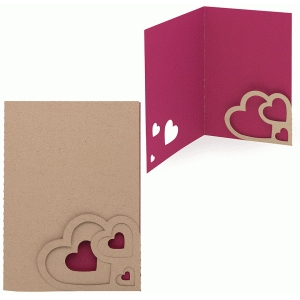 card triple heart corner pocket