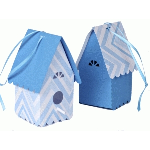 3d embellished scalloped birdhouse