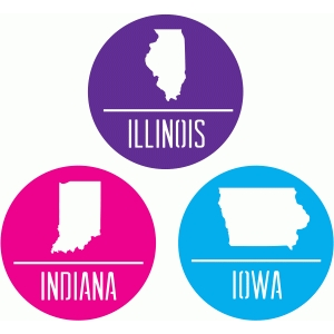state badges - il in ia