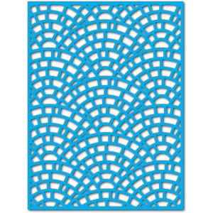 fishscale brick mat/layer/stencil