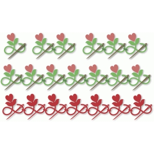 heart flower needle border sets