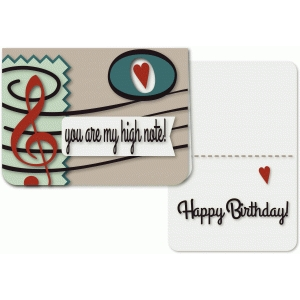 high note a6 greeting card