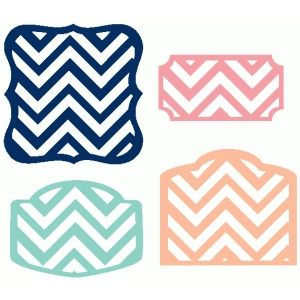 set of 4 chevron labels
