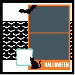 halloween 12x12 scrapbook page kit