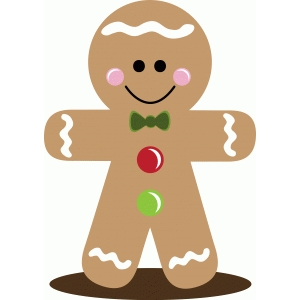 christmas gingerbread boy