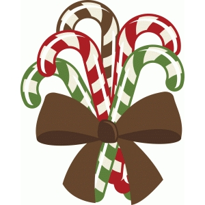 bunch of christmas candy canes
