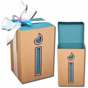 3d two way candle box