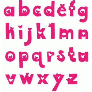 heart alphabet letters lowercase