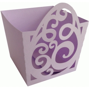 easter egg swirls candy box
