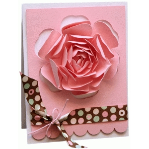 rose a2 cut out card