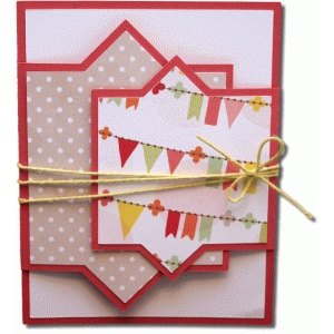a2 angled squares fancy fold card