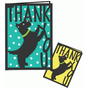 terrier thank you card 5 x 7