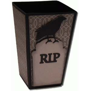 3d crow and grave popcorn box