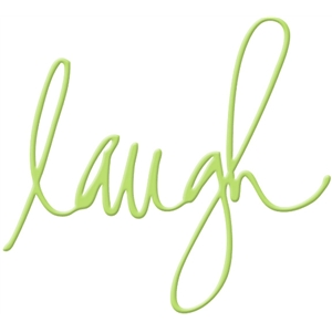 laugh handwritten word