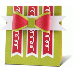 folded card with bow