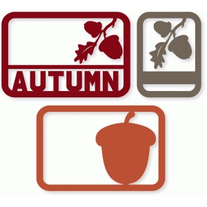 autumn acorn cards