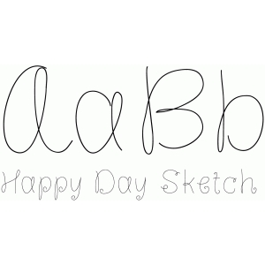 happy day sketch font